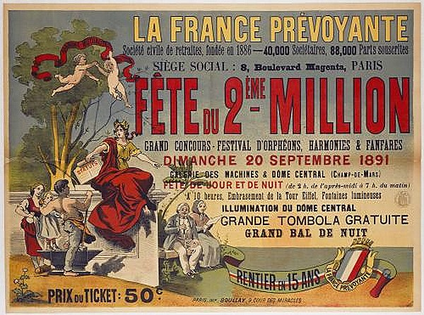 Affiche fête 2eme million